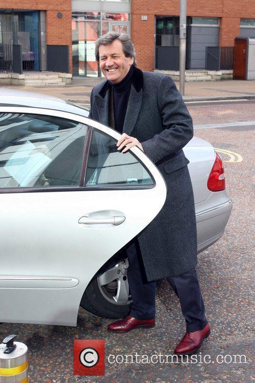 Melvyn Bragg leaving the ITV studios London, England