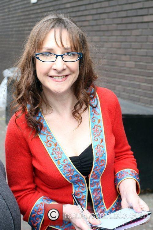 Pauline McLynn leaving the ITV studios London, England