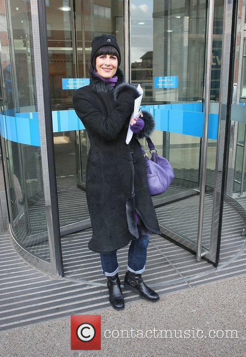 Marcella Detroit outside the ITV studios London, England