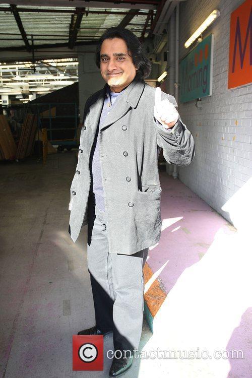 Sanjeev Bhaskar outside the ITV studios London, England