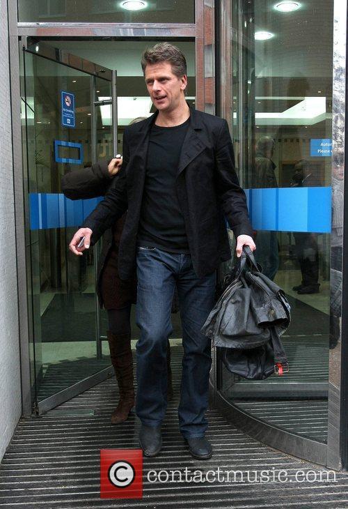 Andrew Castle leaves the ITV studios London, England
