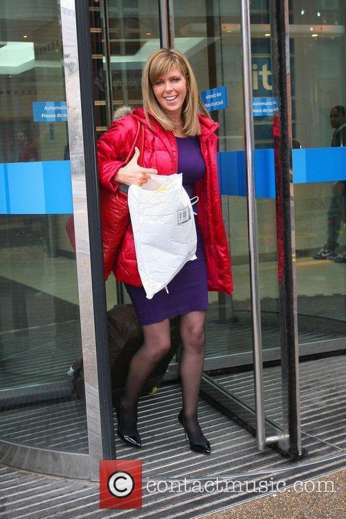 Kate Garraway leaves the ITV studios London, England