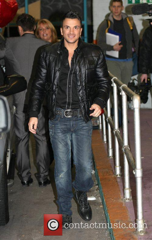 Peter Andre leaves the ITV studios London, England