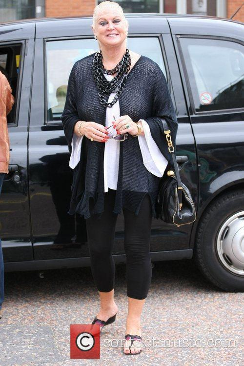 Kim Woodburn outside the ITV studios London, England