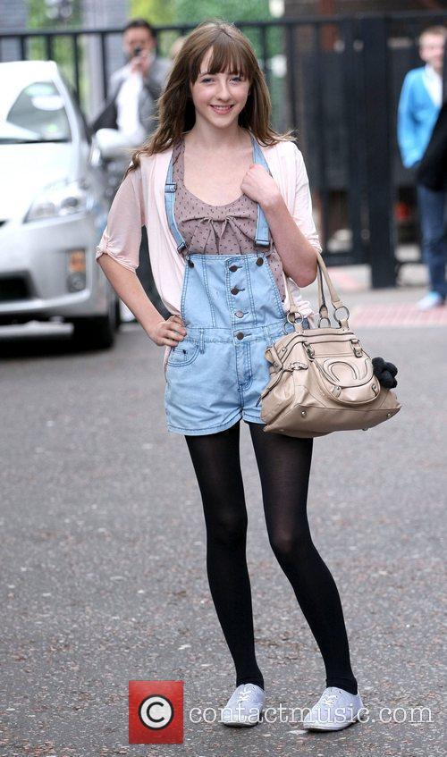 Rebecca Flint outside the ITV studios London, England