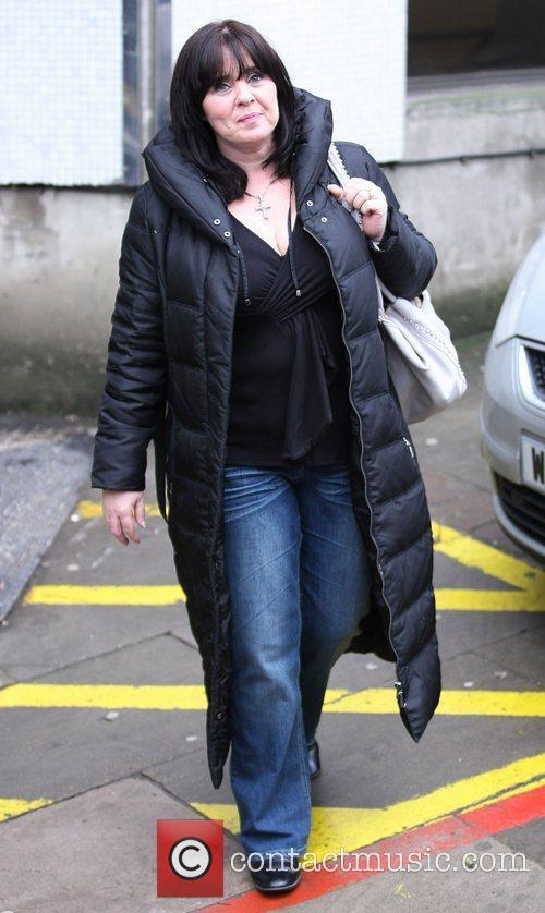 Coleen Nolan outside the ITV studios London, England