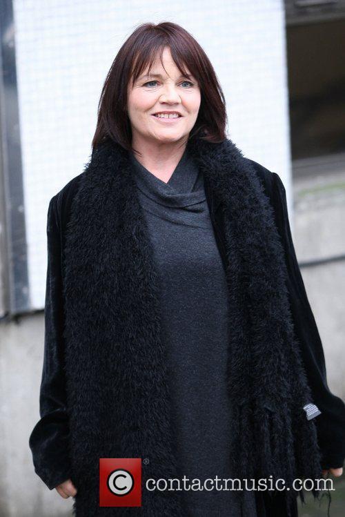 Lesley Dunlop outside the ITV studios London, England