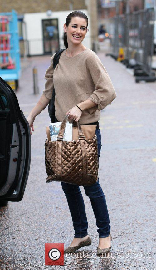 Kirsty Gallagher leaves the ITV studios London, England