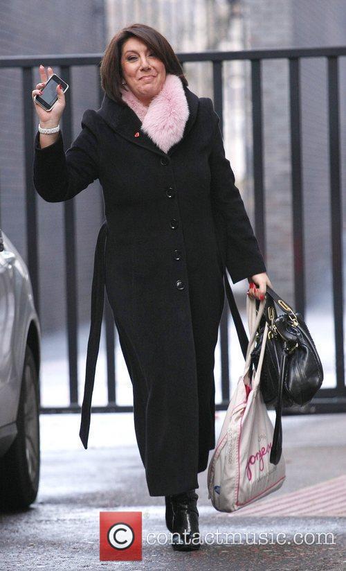 Jane McDonald outside the ITV studios London, England