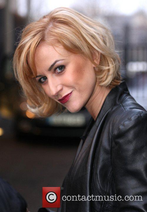 Katherine Kelly leaves the ITV studios London, England