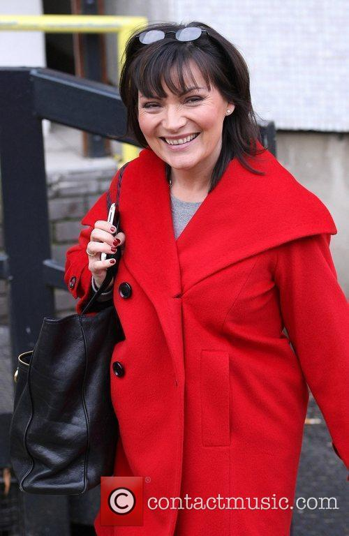 Lorraine Kelly leaves the ITV studios London, England