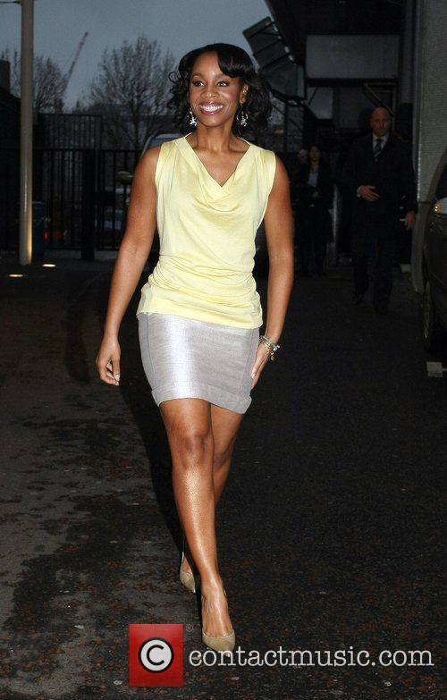 Anika Noni Rose leaves the ITV studios London,...