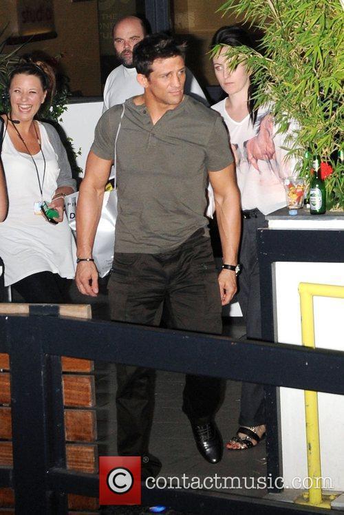 Alex Reid Celebrities outside ITV studios London, England