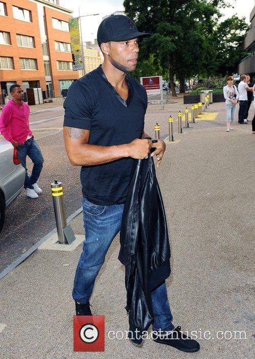 Joleon Lescott  Celebrities outside ITV studios London,...