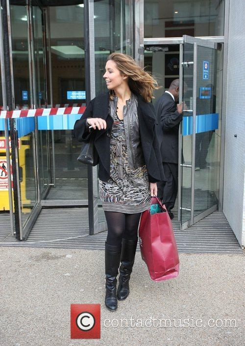 Emma Crosby outside the ITV studios London, England