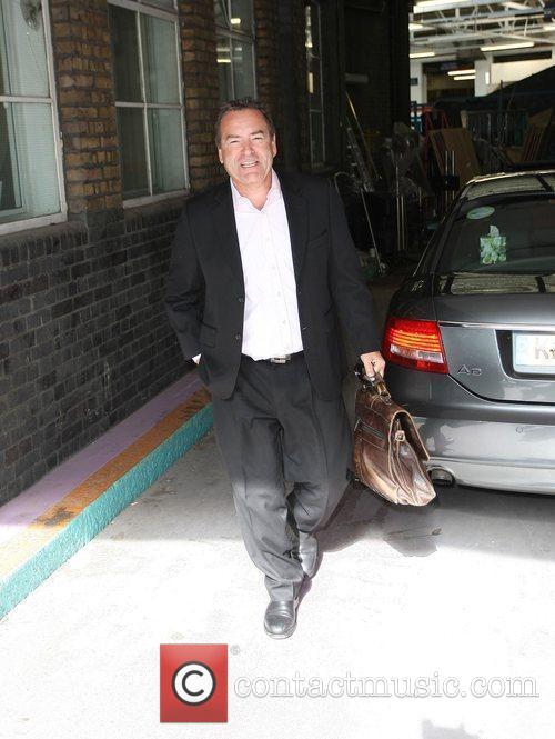 Jeff Stelling outside the ITV studios London, England
