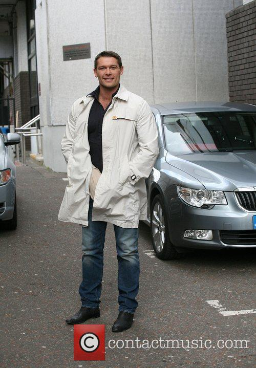 John Partridge outside the ITV studios London, England