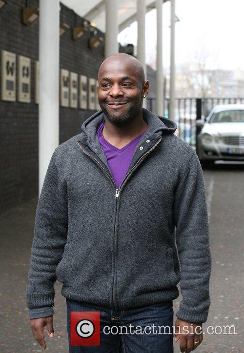 Patterson Joseph outside the ITV studios London, England