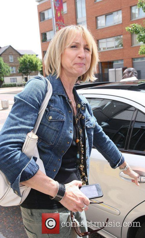 Carol McGiffin Celebrities outside the ITV television studios....