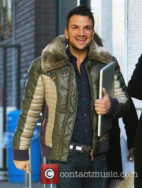 As he leaves the London studios after appearing...