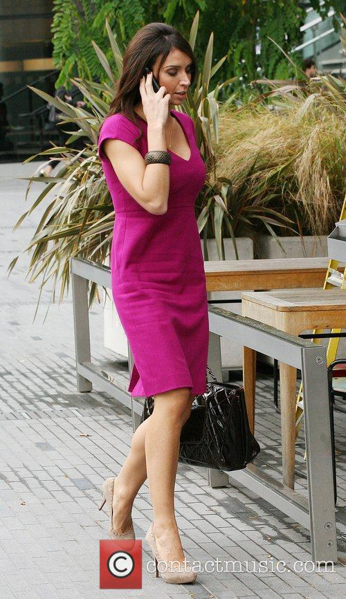 Christine Bleakley leaves the ITV studios and heads...