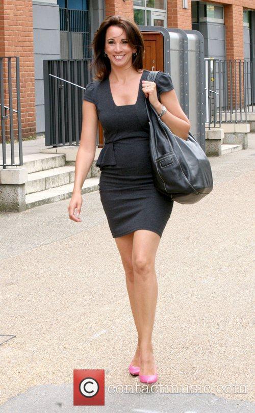 Andrea McLean Celebrities outside the ITV studios London,...