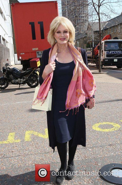 Joanna Lumley leaving the ITV studios London, England