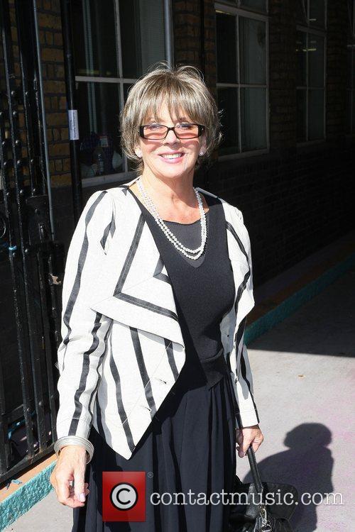 Sue Johnston leaving the ITV studios London, England