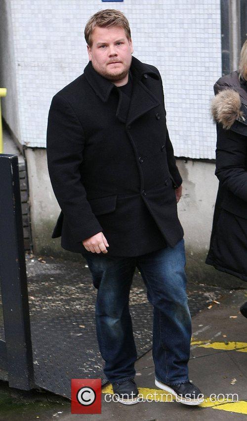 James Corden outside the ITV studios London, England
