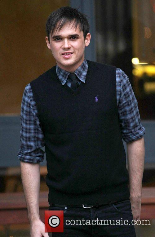 Gareth Gates leaving the ITV studios London, England
