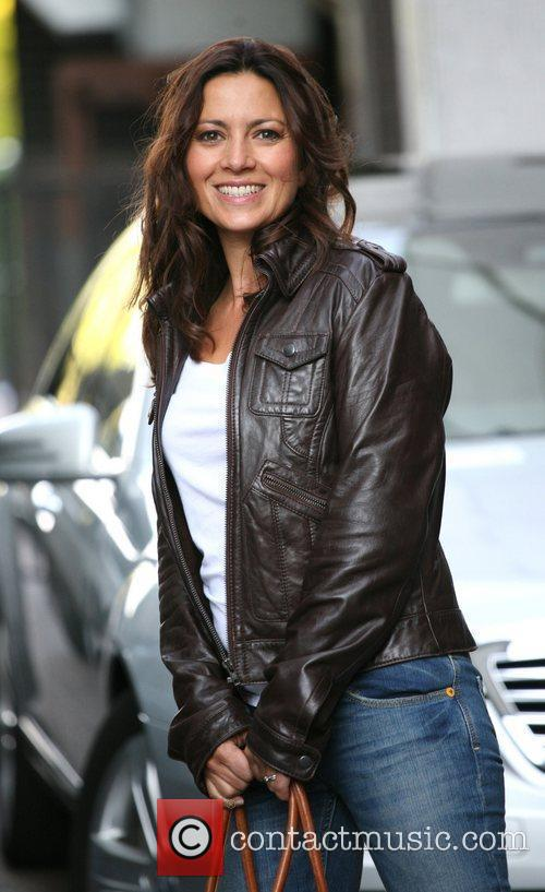 Clare Nasir outside the ITV studios