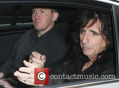 Alice Cooper outside the ITV studios London, England