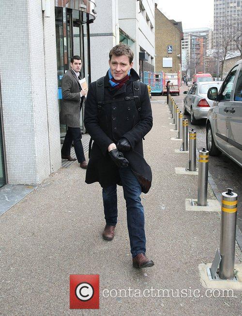 Ben Shephard leaving the ITV studios London, England