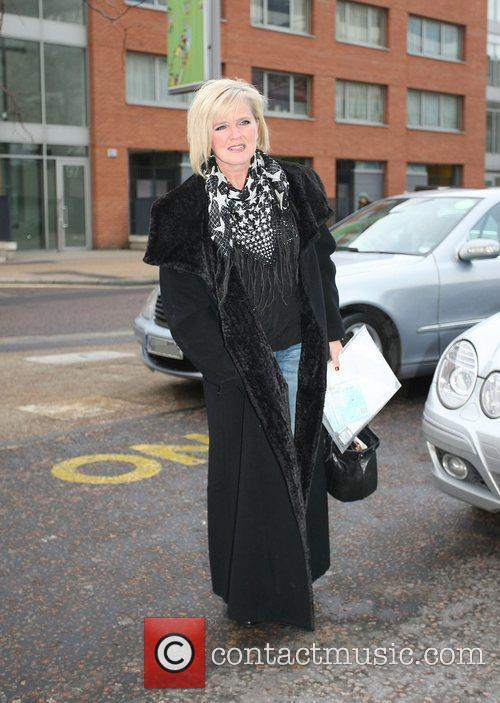 Bernie Nolan leaving the ITV studios London, England