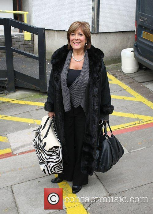 Linda Bellingham leaving the ITV studios London, England