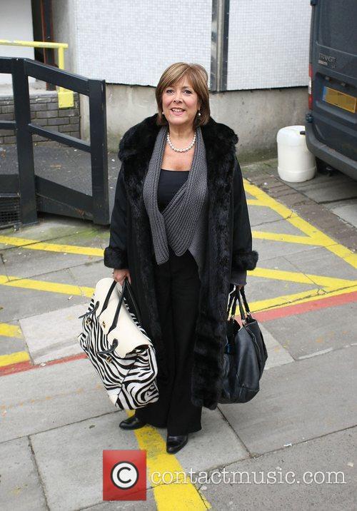 Lynda Bellingham leaving the ITV studios London, England