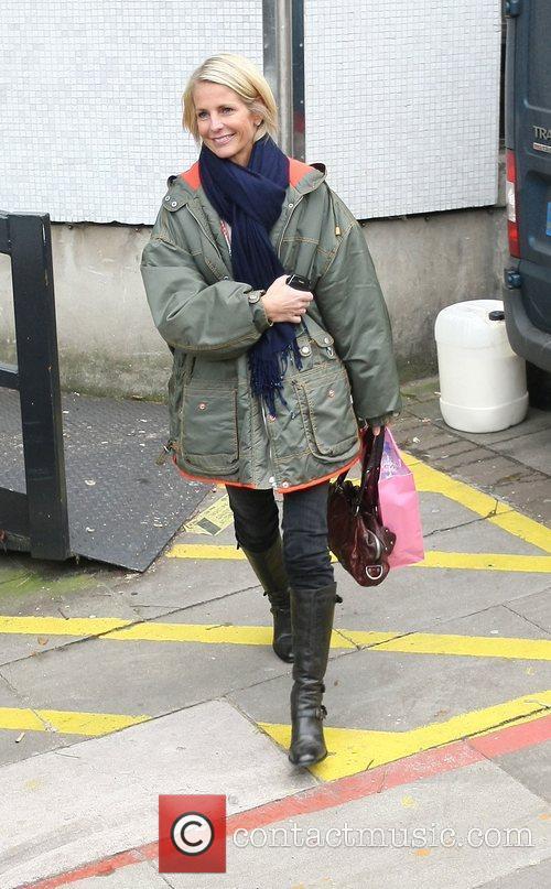 Ulrika Jonsson leaving the ITV studios London, England