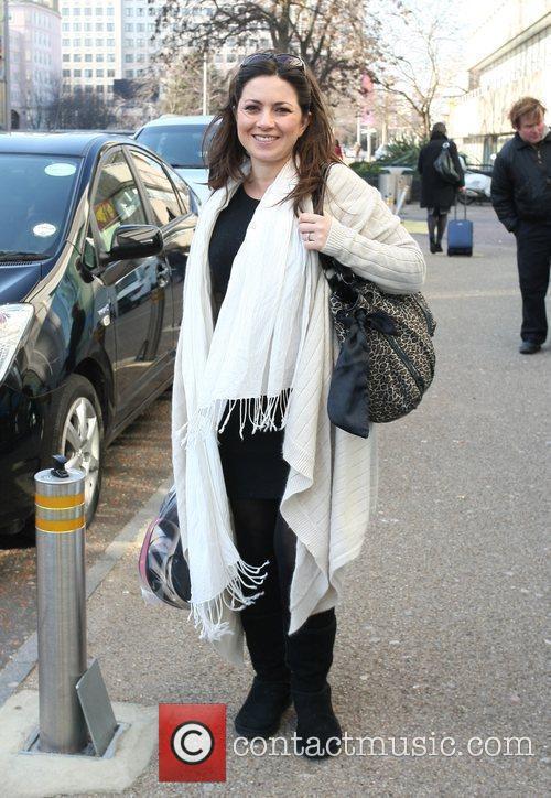 Clair Nasir leaving the ITV studios