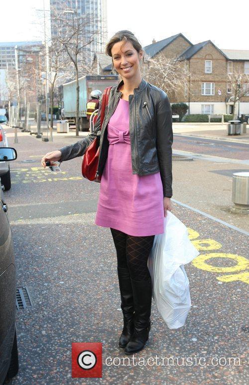 Emma Crosby leaving the ITV studios