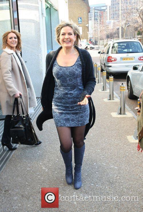 Penny Smith leaving the ITV studios