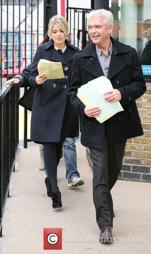Holly Willoughby and Phillip Schofield outside the ITV...