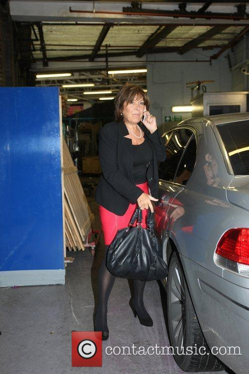 Linda Billingham arriving at the This Morning TV...