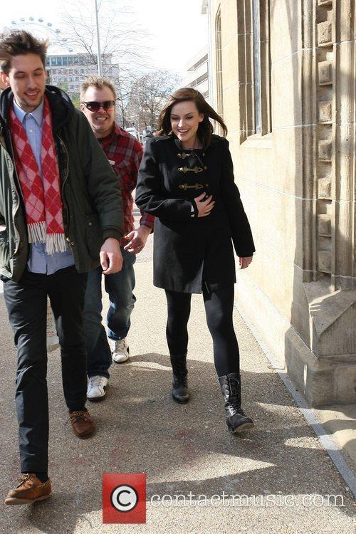 Amy MacDonald outside the ITV studios London, England