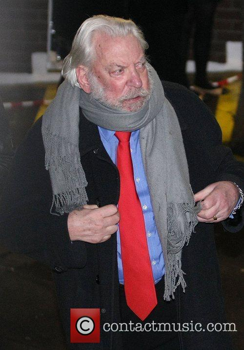 Donald Sutherland Celebrities outside the ITV television studios....