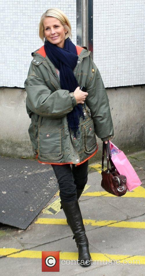 Ulrika Jonsson  leaving the ITV television studios...