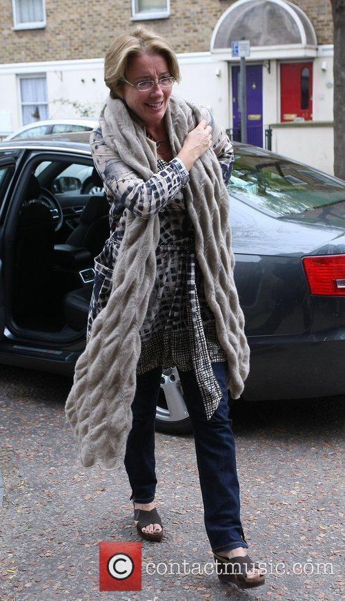 Emma Thompson outside the ITV studios London, England