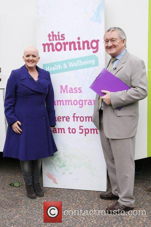 Bernie Nolan and Dr. Chris Steele outside the...