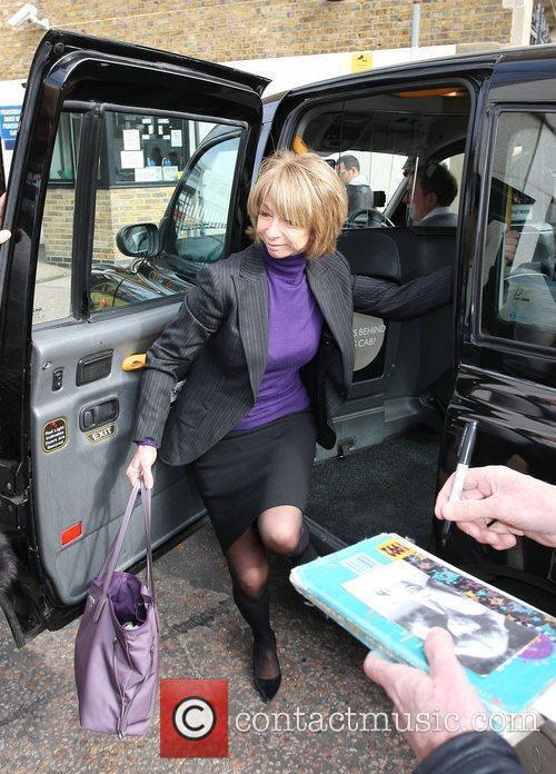 Helen Worth outside the ITV studios London, England