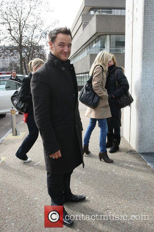 Mikey Graham outside the ITV studios London, England