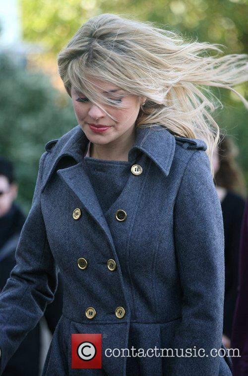 Looking windswept outside the ITV studios